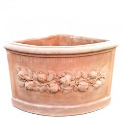 Angular terracotta vase...