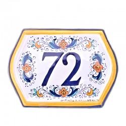 House Number Ceramic B Blue...