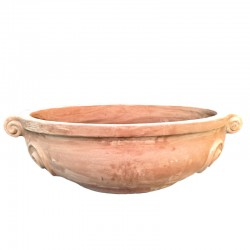 Oval terracotta vase with 2...