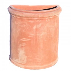 Smooth terracotta wall vase...