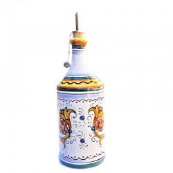 Oliera ceramica maiolica Deruta cilindrica dipinta a mano decoro Raffaellesco