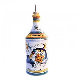 Oliera ceramica maiolica Deruta cilindrica dipinta a mano decoro Ricco Deruta Giallo