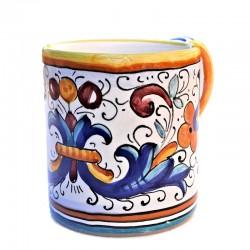 Glass Mug majolica Deruta...