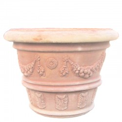 Big classic vase decorated...