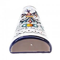 Umidificatore termosifone ceramica maiolica Deruta dipinto a mano decoro ricco Deruta blu