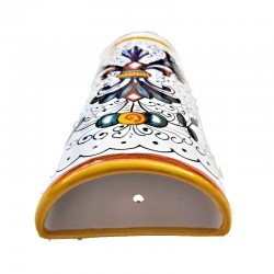 Humidifier radiator Deruta majolica ceramic hand painted rich Deruta yellow decoration