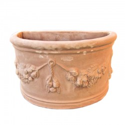 Wall vase in terracotta...