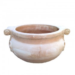 Round terracotta planter...