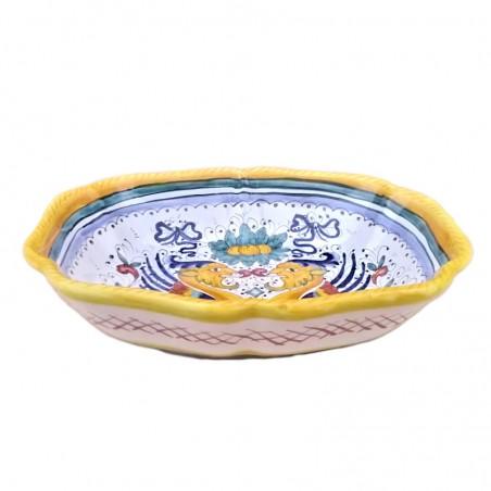 Legumiera Insalatiera ceramica maiolica Deruta dipinto a mano decoro Raffaellesco