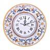 Orologio ceramica maiolica Deruta da parete dipinto a mano decoro Ricco Deruta Giallo
