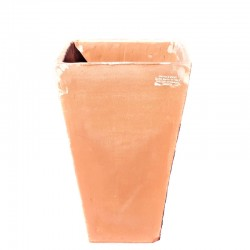 Smooth square high vase in...