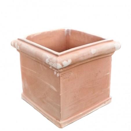 Cubo in terracotta liscio Lavorato a mano
