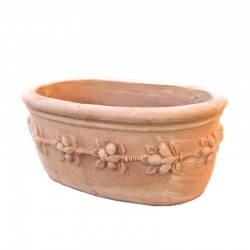 Vaso ovale in terracotta...