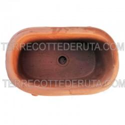 Ovalina Piccola terracotta con putti Cm. 11