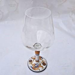 Glass goblet Deruta...