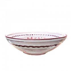 Bolo Insalatiera ceramica maiolica Deruta dipinto a mano decoro Arabesco Rosso