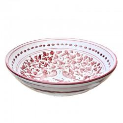 Bowl Red Arabesque