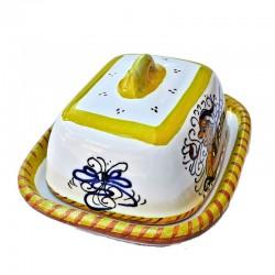 Burriera ceramica maiolica Deruta piccola dipinta a mano decoro Raffaellesco