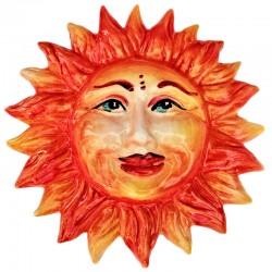 Sole in Ceramica dipinto a...
