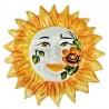 Sole ceramica dipinto a mano decoro girasoli Made in Italy Cm. 20