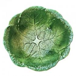 Bolo insalatiera ceramica Made in Italy cavolo verza verde