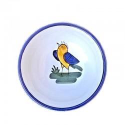 Bolo Insalatiera ceramica maiolica Deruta dipinto a mano decoro uccellino