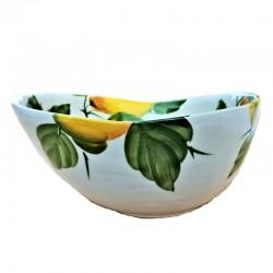 Bolo Insalatiera ceramica Made in Italy dipinto a mano decoro Limoni