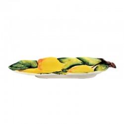 Poggiamestolo ceramica dipinto a mano Made in Italy decoro limoni