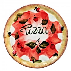 Ceramic pizza plate made in...
