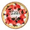 Piatto pizza in ceramica made in Italy dipinto a mano