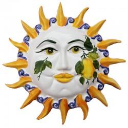 Sole raggi ceramica dipinto a mano decoro limoni Made in Italy