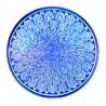 Piatto ceramica Maiolica Deruta dipinto a mano da parete o centrotavola decoro Lucia blu