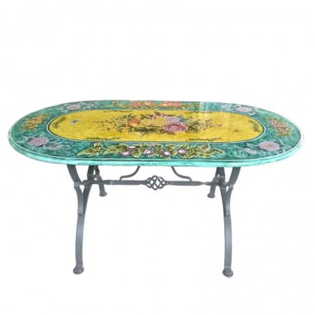 Tavolo ceramica ovale Deruta Cm. 160 x 90