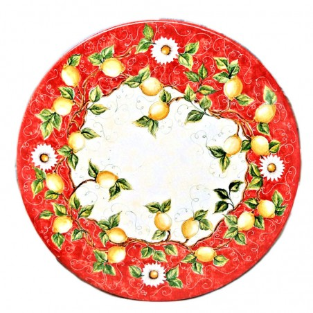 Tavolo pietra rotondo Rosso Limoni Cm. 150