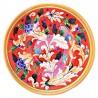 Bolo Insalatiera ceramica maiolica Deruta dipinto a mano decoro Rosso Artistico