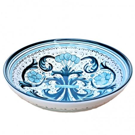 Bolo Insalatiera ceramica maiolica Deruta dipinto a mano decoro Ricco Deruta Verde