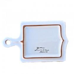 Tagliere ceramica maiolica Deruta dipinto a mano rettangolare decoro Raffaellesco