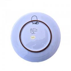 Piatto ceramica maiolica Deruta dipinto a mano da parete decoro Ricco Deruta Giallo Cesto
