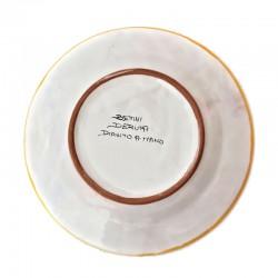 Piatto tavola ceramica maiolica Deruta dipinto a mano decoro Raffaellesco centrino