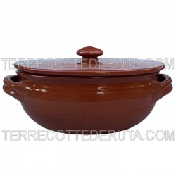 Terracotta Skillet with Lid